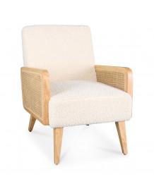 Synergie - White teddy armchair