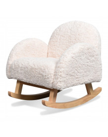 YOUPI - Mini fauteuil a bascule blanc