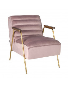 DALLAS - Green velvet Lounge chair in retro style