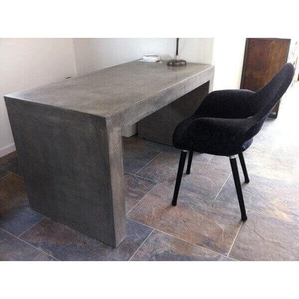 Bureau Ou Table Design En Bton Massif Gris Pour LExtrieur Ou L