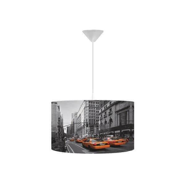 suspension street pour une decoration originale dans une chambre ados new york et ses taxis jaune. Black Bedroom Furniture Sets. Home Design Ideas