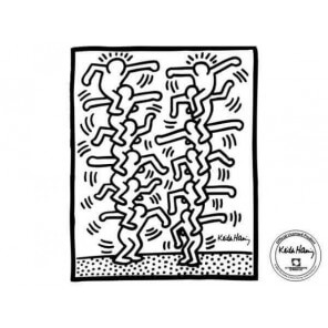 "Sticker ""Two stack of figures"" from Keith Haring"