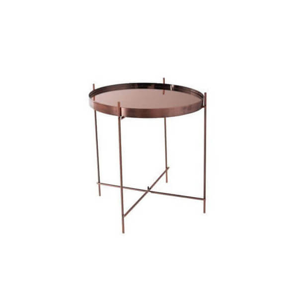 Table D Appoint Cuivre.Table Salon Cupid Cuivre