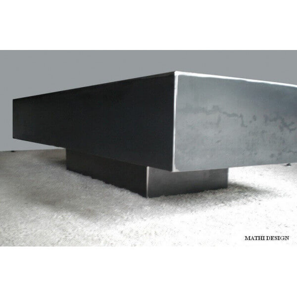 Table Bassesalon Rectangulaire Table Design En Acier Brut Ciré