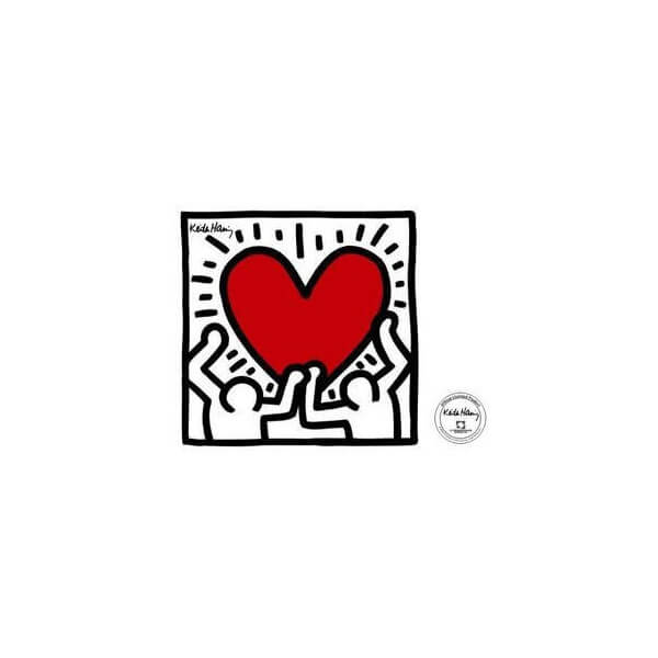 Sticker Men with Heart by K.Haring