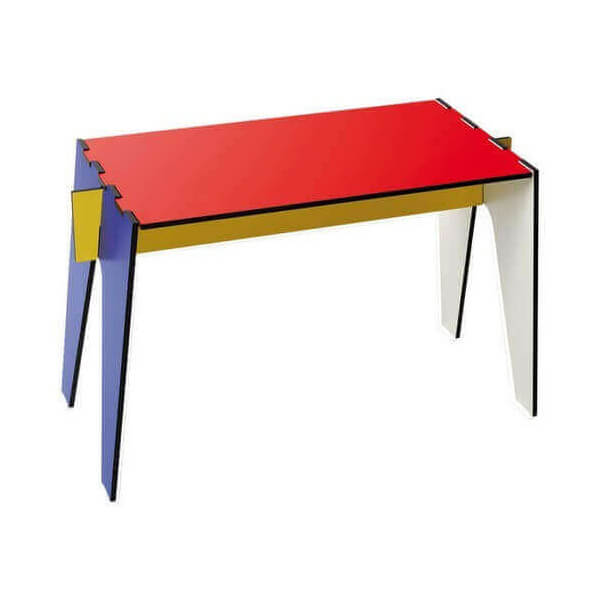 Low stool Mondrian style
