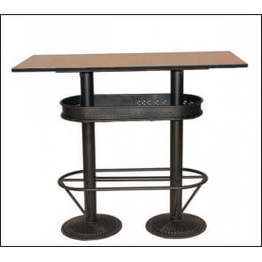 tables hautes mange debout bois acier beton lumineux mathi design. Black Bedroom Furniture Sets. Home Design Ideas