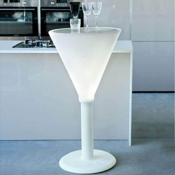 JET SET - Heigh luminous white table