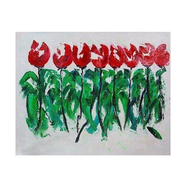 Tableau Tulipes 1968