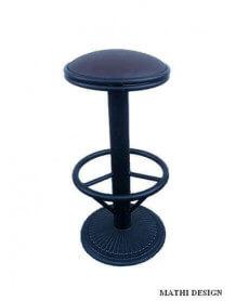 Industrial swivel bar stool