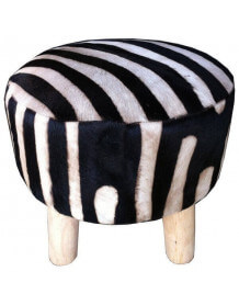 Natural zebra stool