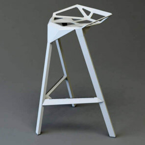 STOOL ONE 77 - Modern aluminum stool