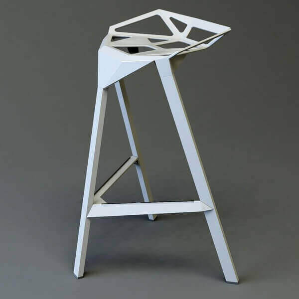 STOOL ONE - Modern aluminum stool