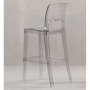 EASY - Comfortable bar chair with a sober transparent design