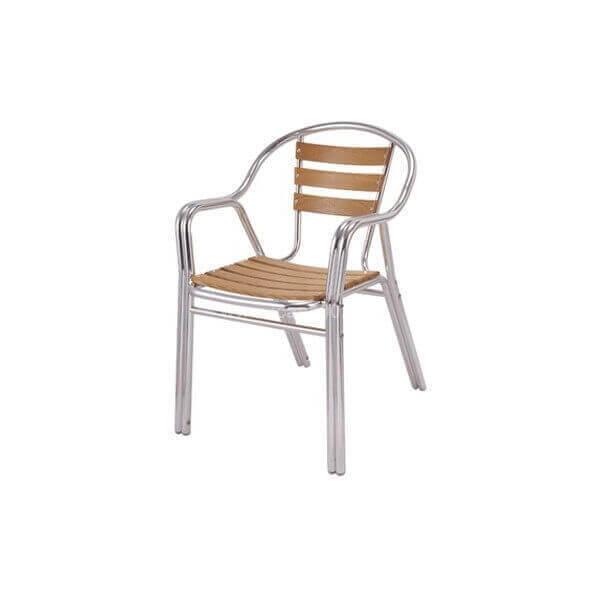 Chaise alu et bois 2392