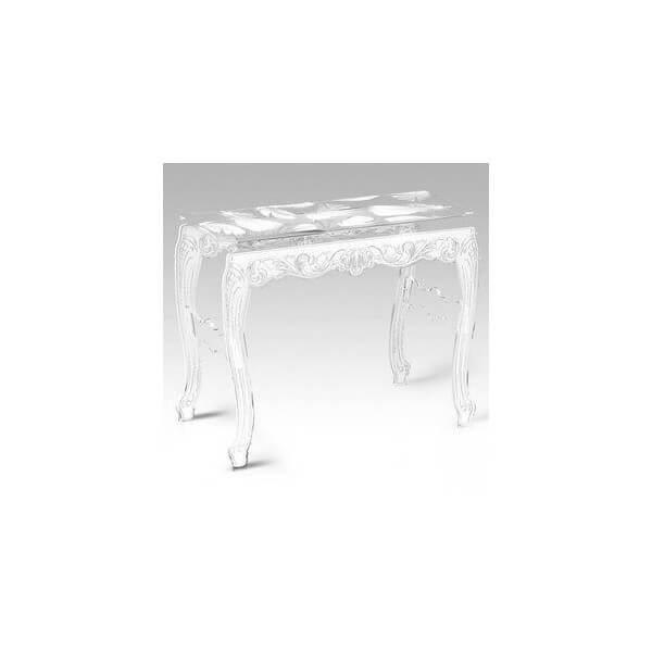 Acrila console plume acrila transparente design moderne plusieur coloris - Console transparente design ...
