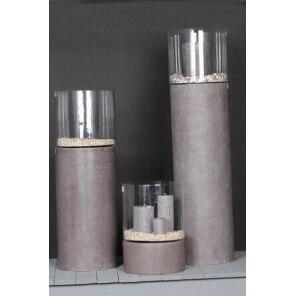 ROCKSTONE - Grey polystone cap-lamp