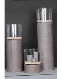 Grey Concrete cap-lamp