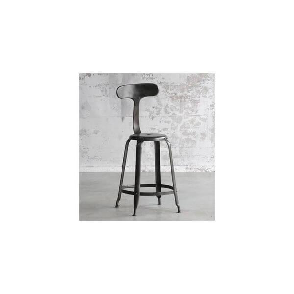 Tabourets rotatifs r glables chaises hautes mathi design - Tabouret de bar en bois avec dossier ...