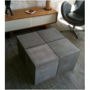 BETON - Concrete ajustable low table