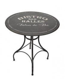 Table ronde Bistro noire
