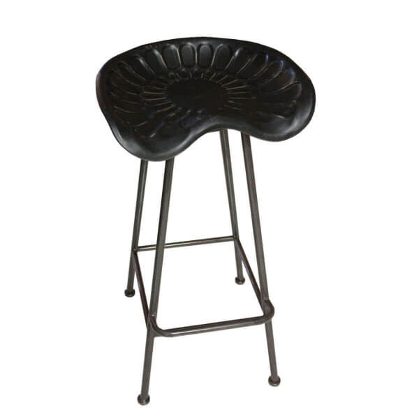 stool atlantic black shopping stools bar industrial urban