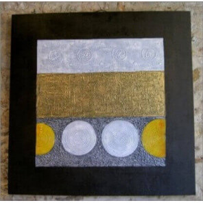 Abstract painting cocooning