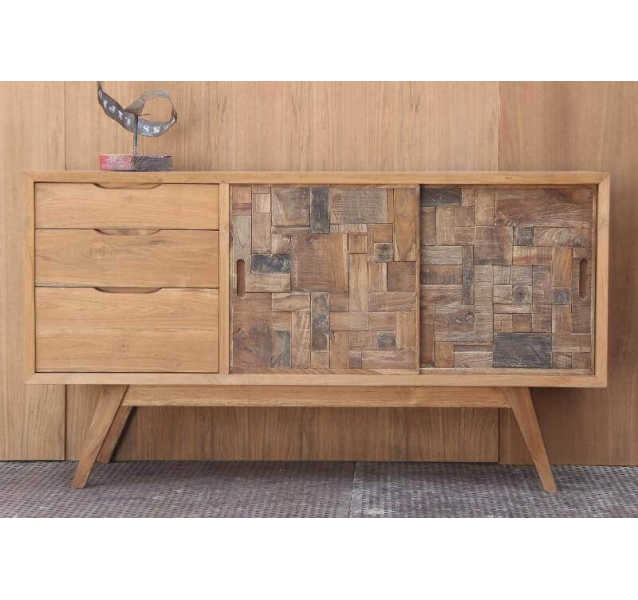 Buffet commode design bois massif - Commode design scandinave ...