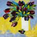 Tableau Tulipes Noires 4932