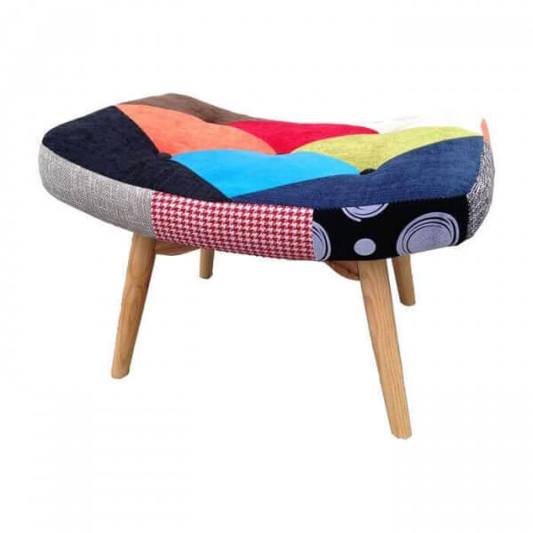 repose pieds java patchwork style scandinave. Black Bedroom Furniture Sets. Home Design Ideas