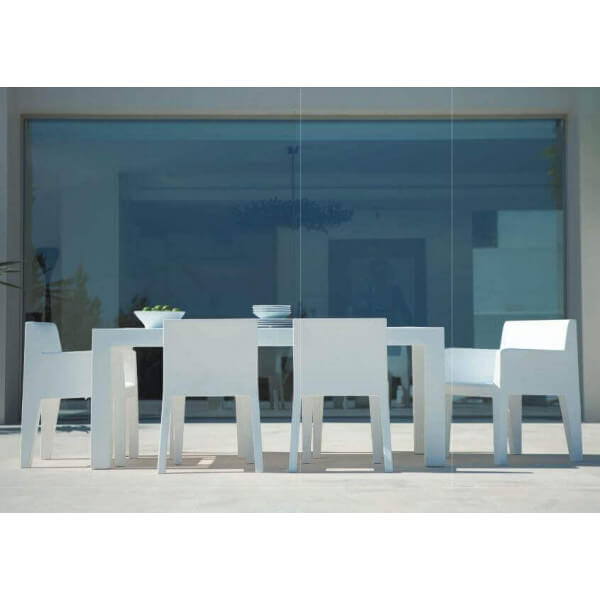 dining table and matching chairs outdoor furniture design Vondom