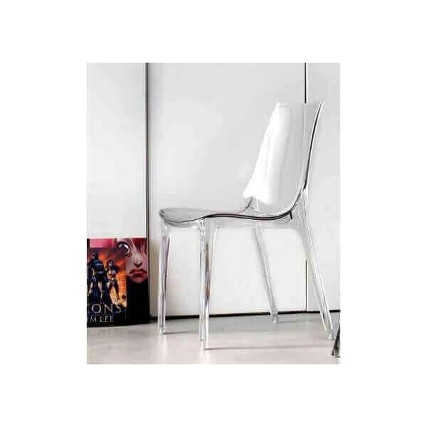 chaise repas design transparente. Black Bedroom Furniture Sets. Home Design Ideas