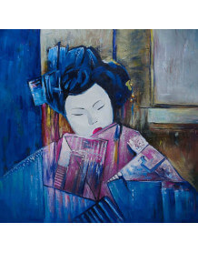 Exotic painting Geisha