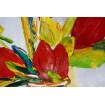 Tableau Tulipes Rouges