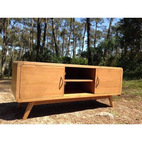 meuble tv design nordique danish bois massif retro tendance - Meuble Tv Scandinave Design