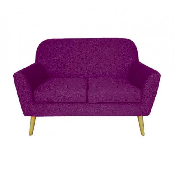 Design Sofa Scandinavian Pop Two Purple Squares