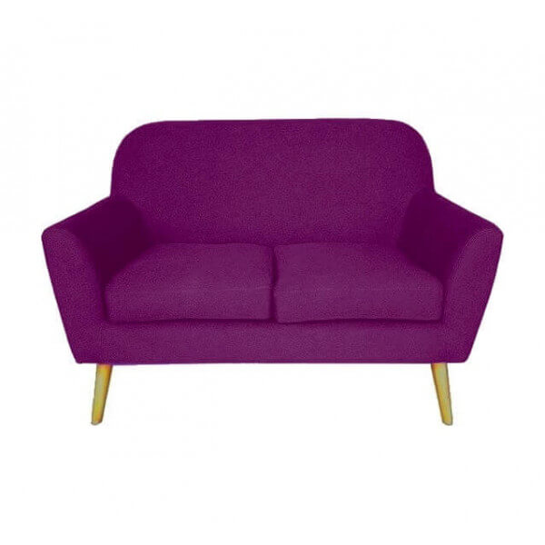Design Sofa Scandinavian Pop Two Purple Squares