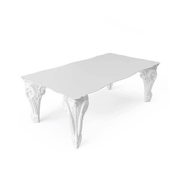 Sir baroque table of love - Table blanche baroque ...