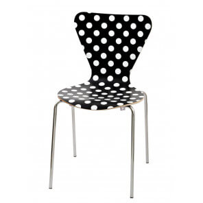White spotted chair