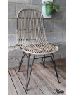 KUBU - Natural rattan dining chair