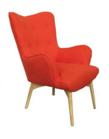 Fauteuil scandinave Java orange