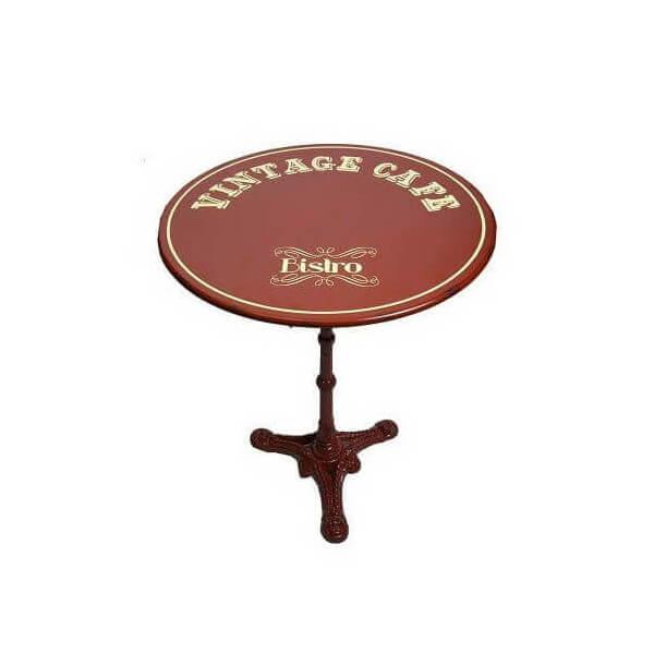 table de caf rouge acier. Black Bedroom Furniture Sets. Home Design Ideas