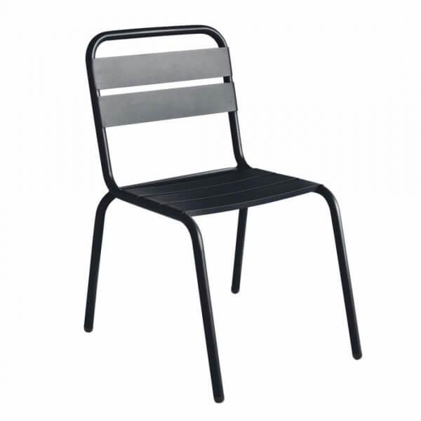 Chaise barceloneta acier noir