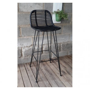 Black Grafik design barstool