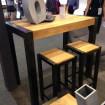 Table haute bois acier industrielle