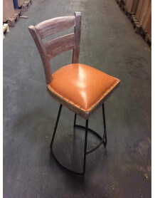Chaise haute Taverne orange