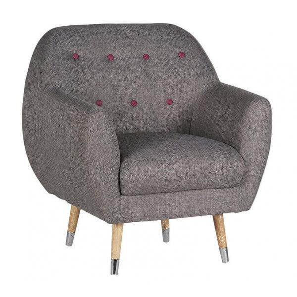 Fauteuil de salon gris scandy - Fauteuil design soldes ...