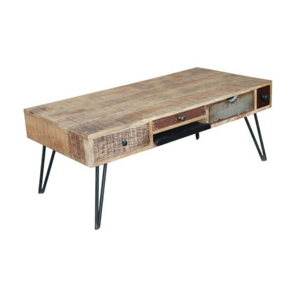 Table basse vintage bois Byron Bay