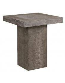 Table haute beton carrée