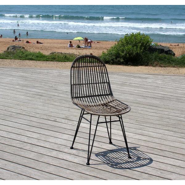 Chaise design Kubu accoudoirs